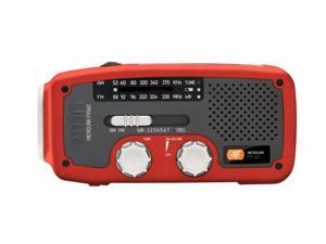 eton Self-Powered AM/FM/NOAA Weather Radio with Flashlight, Solar Power, and Cell Phone Charger(Red) NFR160WXBL