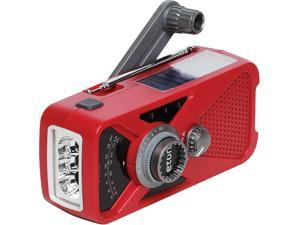 eton Hand Turbine AM/FM Weather Radio with Smartphone Charger - Red NFRX2WXR