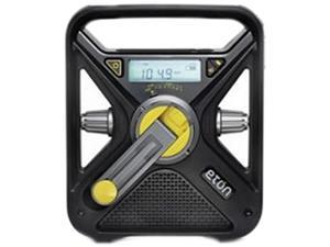 eton Hand Turbine AM/FM Weather Radio with Smartphone Charger - Black NFRX3WXB
