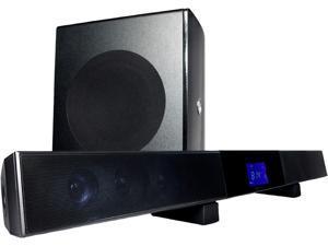 "Current Audio SB65 40 watt four drivers with two tweeter soundbar and 60 watt 6.5"" wireless woofer"
