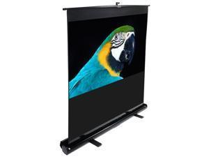 "Elitescreens 80"" HDTV(16:9) Portable ezCinema Portable Floor Set Manual Projection Screen (80"" 16:9 AR) (MaxWhite) F80NWH"