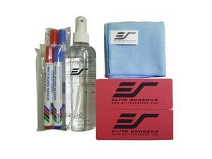 Elite Screens Inc. ZER3 WhiteBoardScreen Cleaning Kit ( Pen x3, Eraser x2, Cleaning Cloth x1, Cleaning Solution Bottle x 1)