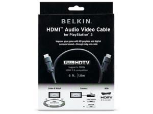 Belkin AM22302-06-SN 6 ft. HDMI to HDMI Audio/Video Cable