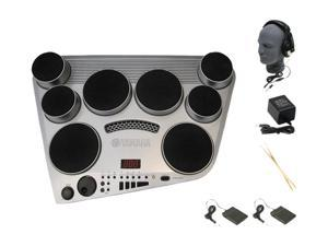 Yamaha DD-65 Portable Drums Package with Professional Closed Cup Headphones and Power Supply