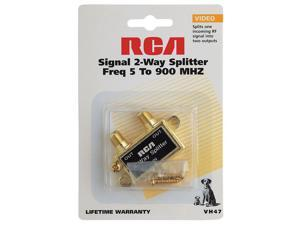 RCA VH47 Coaxial Video 2-Way Signal Splitter