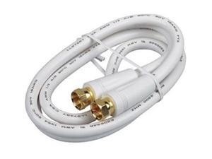 RCA Model VH603WH 3 ft. Digital RG6 Coaxial Cable in White Color