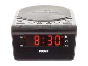 RCA Black CD Clock Radio With Battery Backup RC5610