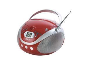 COBY Portable CD Player with AM/FM Stereo Tuner CX-CD241RED
