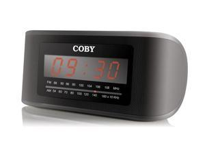 COBY Digital AM/FM Alarm/Clock Radio, Black CRA50