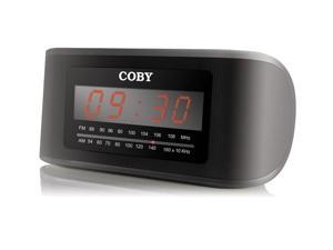 "COBY CRA108 Jumbo 2"" LED Digital Alarm Clock with AM/FM Radio"