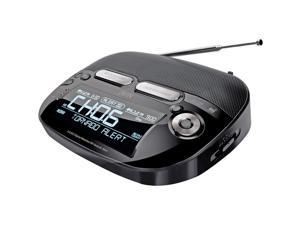 Jwin Weatherband Radio With AM/FM And Dual Alarm Clock JXM133