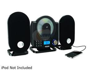 GPX HC208B Home Music System Vertical CD Player with AM/FM Radio and Digital Clock Includes