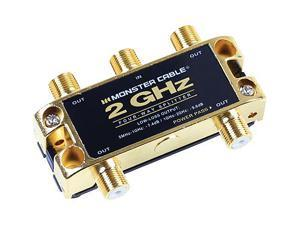 Monster Cable TGHZ-4RF MKII 4-Way 2 GHz Low-Loss RF Splitter for TV & Satellite MKII