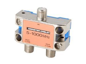 MONSTER 127776-00 2 Way RF Splitter For CATV Signals MKII