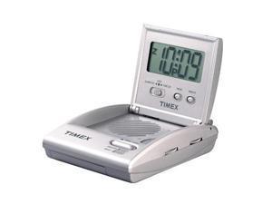 TIMEX Travel Alarm Clock Radio Silver T315S3