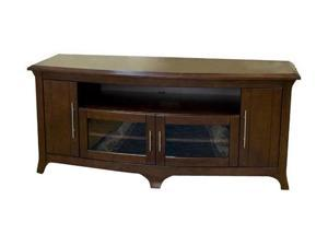 "TECH CRAFT EOS6428 Up to 60"" Walnut 64"" Wide Curved Front ""Hi-Boy"" Credenza"