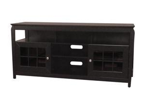 "TECH CRAFT BAY6028B Up to 65"" Black 60"" Wide ""Hi - Boy"" Credenza"