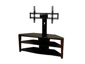 "TECH CRAFT FLEX52W Up to 60"" Walnut 54"" Wide 3-Way TV stand"