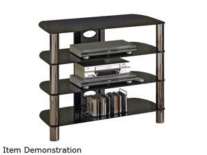 "TECH CRAFT BEL320B Up to 30"" Metallic Tall - Boy TV Stand"