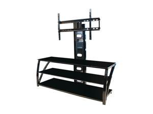 "TECH CRAFT TMT52 Up to 55"" Black 52"" Wide 3-Way Flat Panel TV Stand"