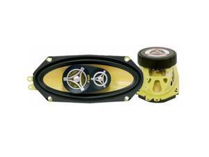 """PYLE 4"""" x 10"""" 300 Watts Peak Power 3-Way Speakers"""