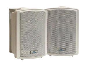 """PYLE PD-WR33 3.5"""" Indoor/Outdoor Waterproof Wall Mount Speakers Pair"""