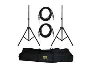 "PYLE PMDK102 Heavy-Duty Pro Audio Speaker Stand & 1/4"" Cable Kit"