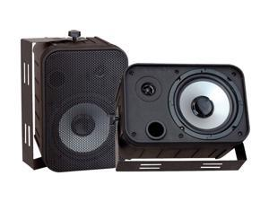 "PYLE PD-WR50B 2 CH 6.5"" Indoor/Outdoor Waterproof Speakers (Black) Pair"