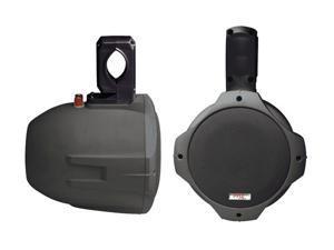 """PYLE PLMRB65 6.5"""" 200 Watt Two-Way Black Wake Board Speakers"""