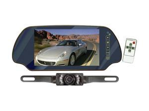 "PYLE PLCM7200 7"" TFT Mirror Monitor w/ Rear-View Night Vision Camera"