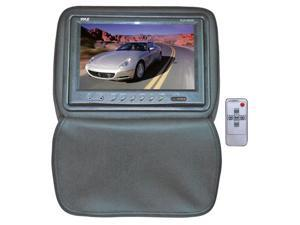 "PYLE 9"" Adjustable Headrest Monitor w/ IR Transmitter & Cover (Gray) Model PL91HRGR"