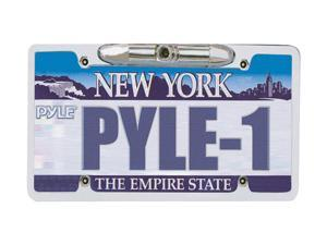 "PYLE PLCM21 License Plate Rear View Backup Camera ""Zinc Metal Chrome"""