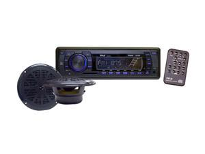 "Pyle PLMRKT13BK In-Dash Marine AM/FM PLL Tuning Radio w/6.5"" Speaker"
