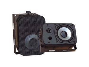 "PYLE PDWR40B 2 CH 5.25"" Indoor/Outdoor Waterproof Speakers (Black) Pair"