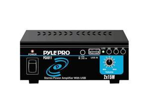 PYLE PCAU11 Stereo Mini 2x15 Watt Stereo Power Amplifier w/ USB Input
