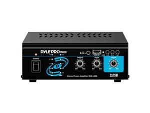 PYLE PCAU33 Stereo Mini 2 x 75 Watts Stereo Power Amplifier With USB Input