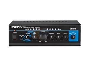 Pyle Audio Mini 2x120 Watt Stereo Power Amplifier w/ AUX/CD Input