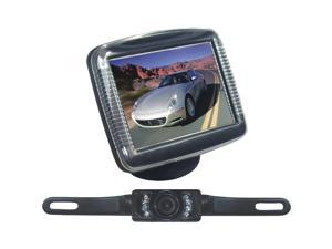 "PYLE PLCM36 3.5"" Monitor w/ License Plate Mount Night Vision Rearview Camera"