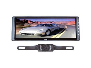 "PYLE PLCM103 10.2"" Rearview Mirror Monitor w/ License Plate Mount Night Vision Camera"