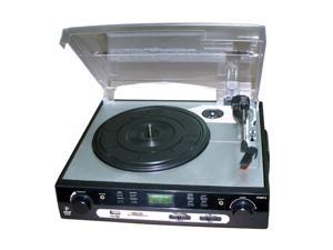 PYLE PLTTB9U USB Turntable with Direct-to-digital USB/SD Card Encoder & Built-in AM/FM Radio