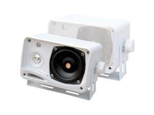 "Pyle PLMR24 3.5"" 200 Watt 3-Way Weather Proof Mini Box Speaker System (White)"