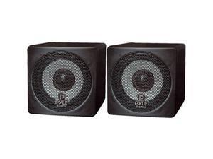 PYLE PCB3BK Mini Cube Bookshelf Speaker (Black) 3 100 Watt Pair