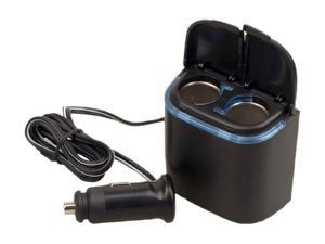Plug In Car 1 to 2 Cigarette Lighter Multiplier