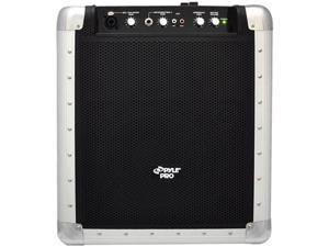Pyle PCMX265B Portable PA System with Rechargeable Battery, USB Port, SD Slot, DJ Controls & Aux Inputs