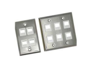 C2G 37093 1-Port Single Gang Multimedia Keystone Wall Plate