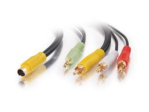 C2G Model 27992 12 ft. Value Series S-Video + 3.5mm Audio to RCA Cable