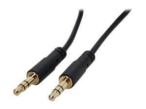 StarTech MU15MMS Slim 3.5mm Stereo Audio Cable M-M