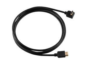 Insten 675798 6.5 ft. High Speed HDMI Cable with Ethernet M / M, Straight to Right