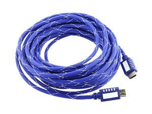 Insten 675736 25 ft. Mesh Blue Premium High Speed HDMI Cable