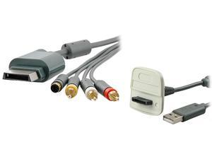 Insten 1647373 6 ft. 1X AV Composite and S-Video Cable compatible with Microsoft Xbox 360 / Xbox 360 Slim